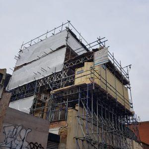 Scaffolding in Kingsland Road